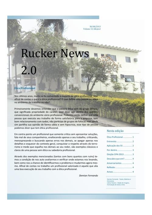 Rucker News 2.0 - Edição de Setembro