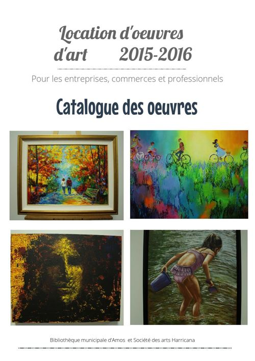 Oeuvres d'art 2015-2016