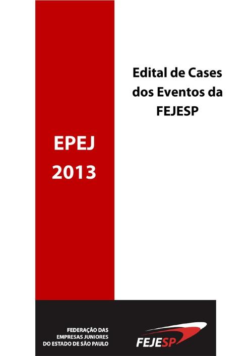 Edital de Cases EPEJ 2013