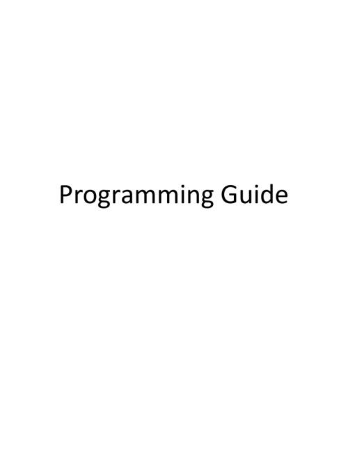 AP CS Programming Guide