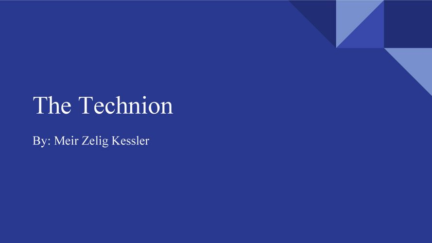 MK - The technion