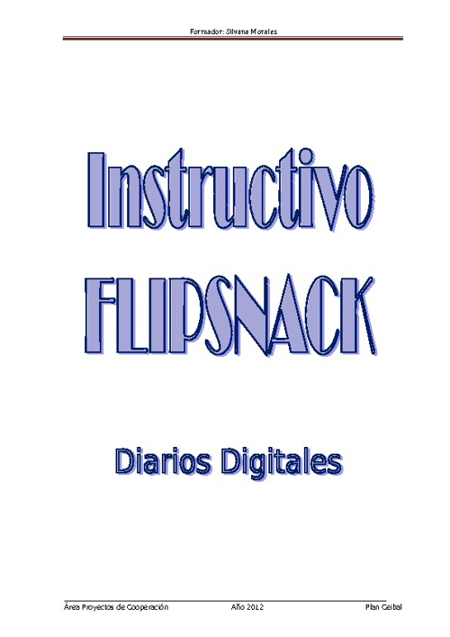 Instructivo Flipsnack