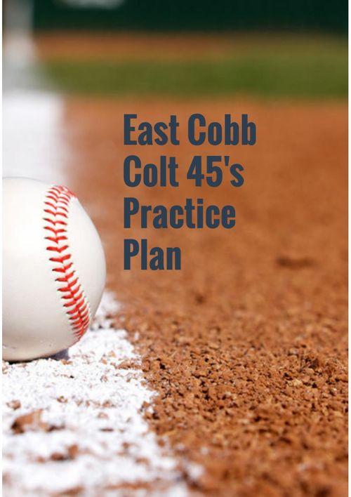 East Cobb Colt 45's Practice Plan