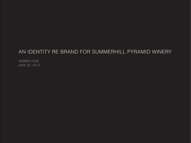 Summherhill Pyramind Winery Rebranding
