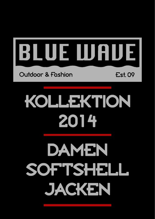 Damen Softshelljacken BLUE WAVE KATALOG 2014