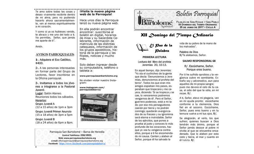Boletín 25 de junio