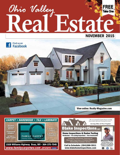 Ohio Valley Real Estate Nov 2015  Parkersburg, WV • Marietta, OH