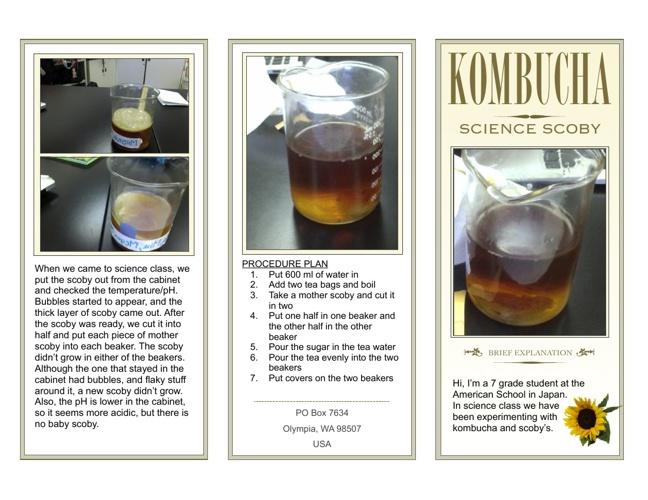 Periods 1 & 2 Kombuchi