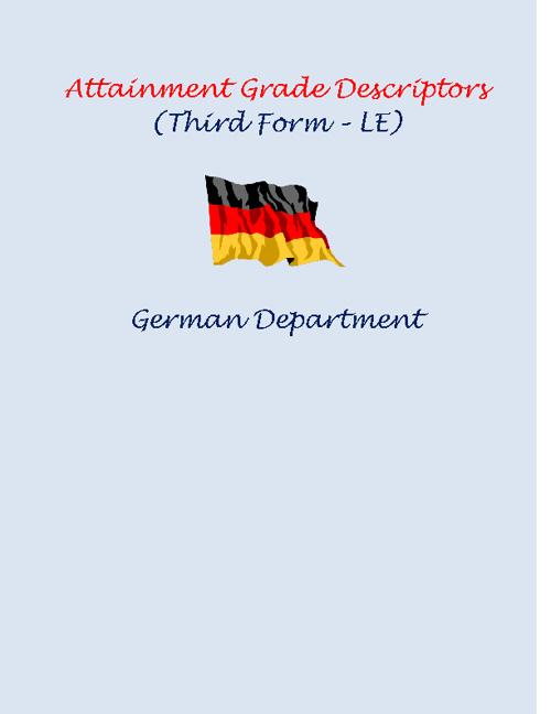 Attainment Grade Descriptors (German, 03 - LE)
