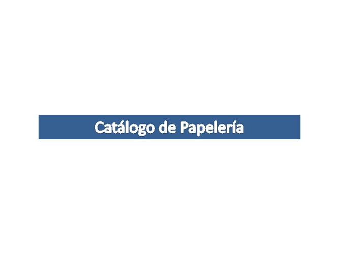 Catalogo de papeleria