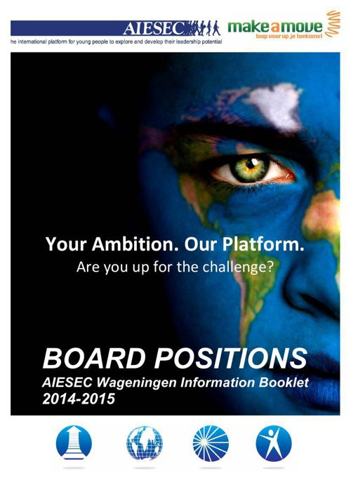 AIESEC & Make a Move Boardpositions Info Booklet 2014-2015