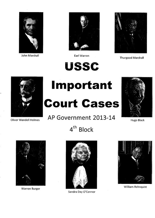 Important USSC Cases Booklet - 4th Block
