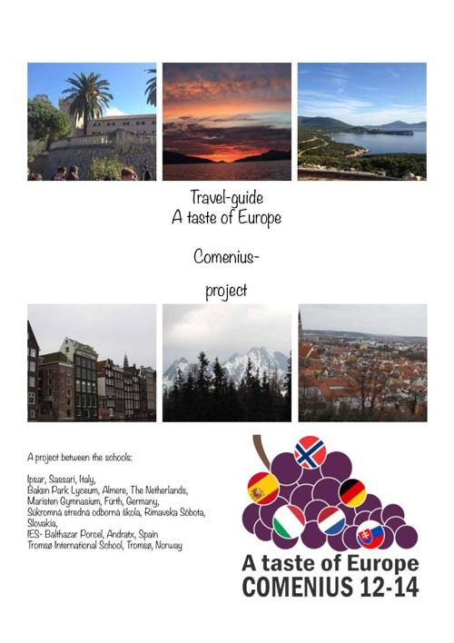 Travel guide. The taste of Europe