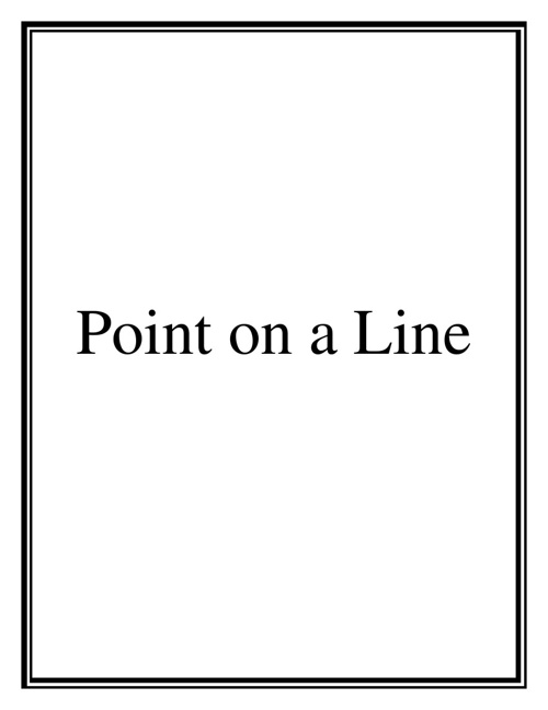Point on a Line