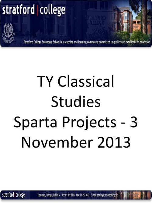 TY Spartan Project - 3. November 2013