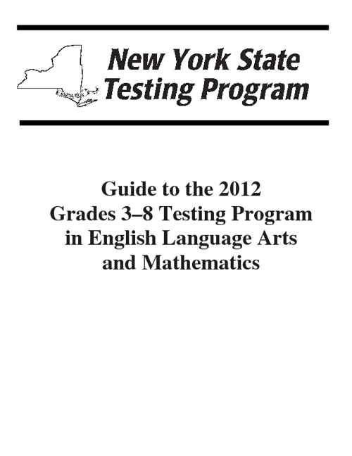 Guide to the 2012 NYS ELA State Test