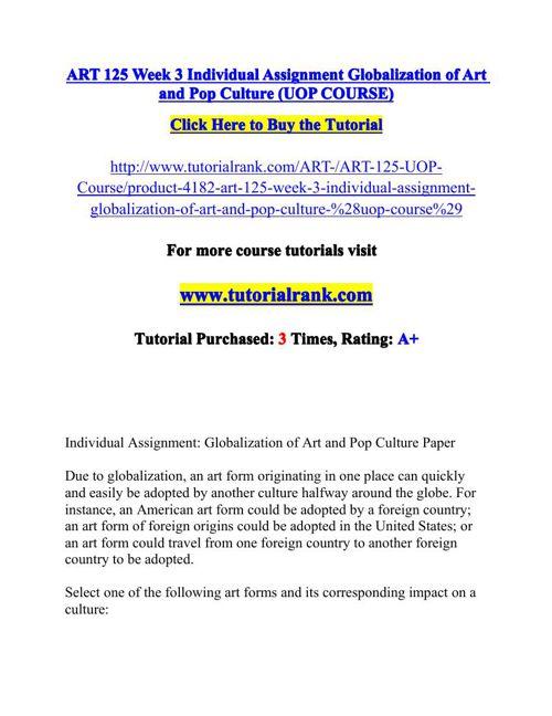 ART 125 Potential Instructors / tutorialrank.com