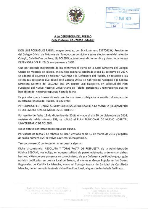 Carta a Defensora Pueblo y  respuesta