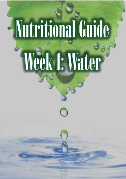 Copy of Nutritional Guide Water Mag