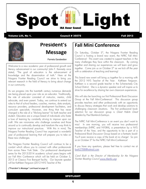 Fall 2013 Spotlight