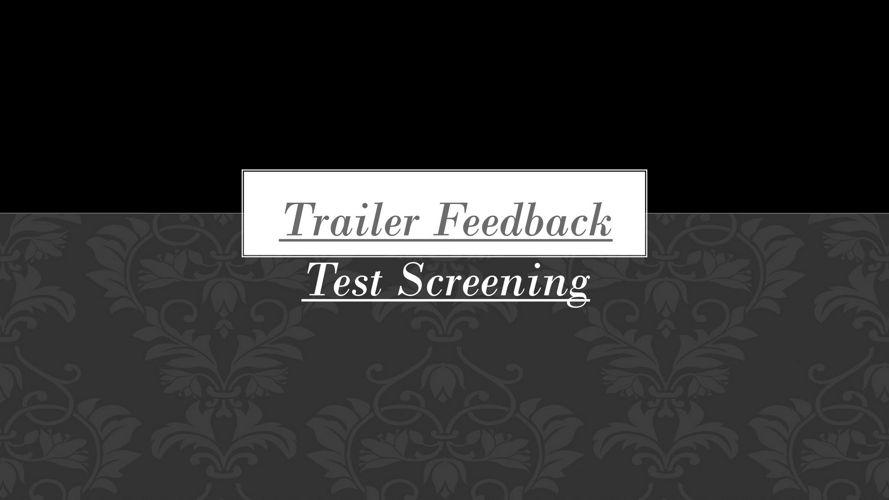 Feedback for trailer