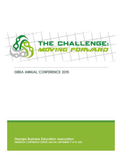GBEA Annual Conference Program 2015