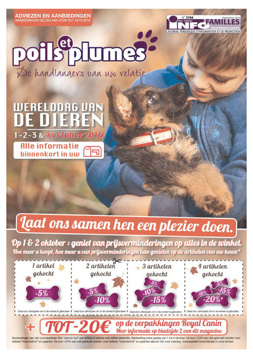 Poils & Plumes - Septembre 2016 (NL)