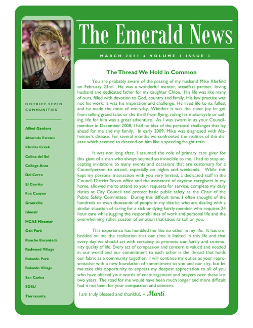 The Emerald News: Volume 3, Issue 3 (March 2011)