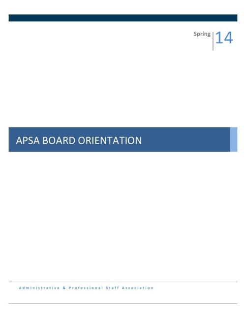 2014 ExecutiveOrientationManual