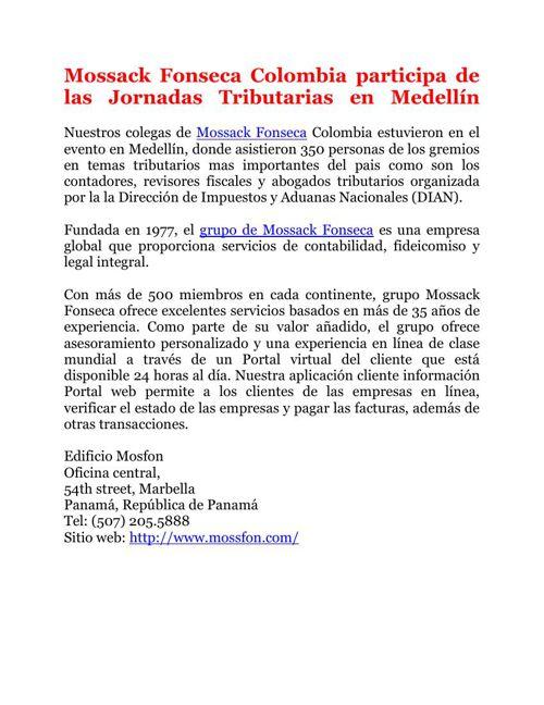 Mossack Fonseca Colombia participa de las Jornadas Tributarias e
