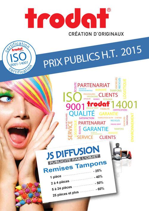 TRODAT - TARIF PUBLIC 2015