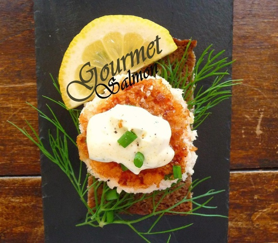 Gourmet Salmon Pancakes With Caviar