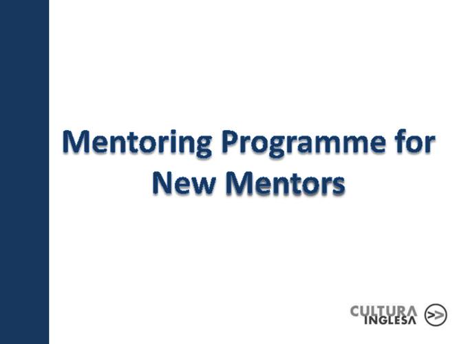 New Mentoring Programme