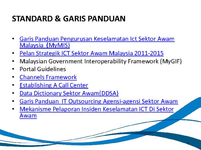 Standard & Garis Panduan