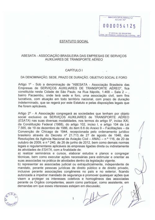 Estatuto Social - 29.10.13