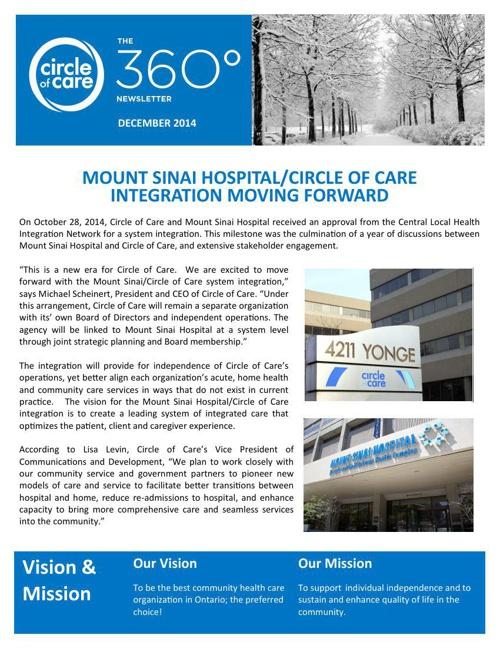 The 360 Newsletter - December 2014