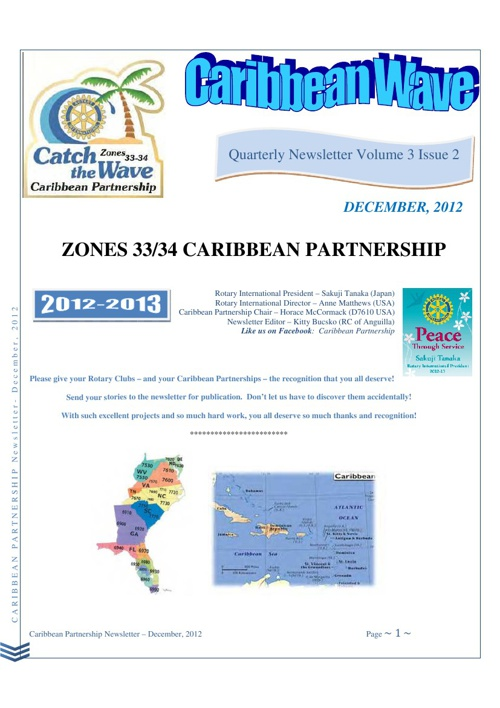 Caribbean Partnership newsletter - December 2012