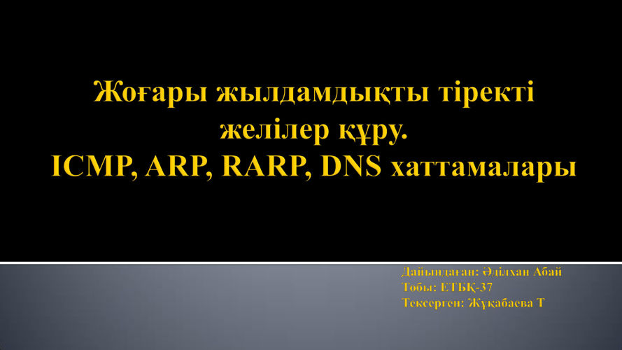Әділхан Абай DNS