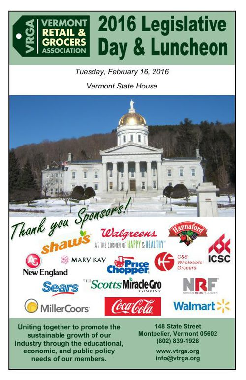 February 2016 Vermont Retail & Grocers Association Newsletter