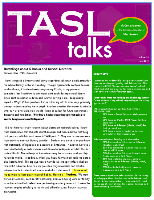 TASL Talks June 2012