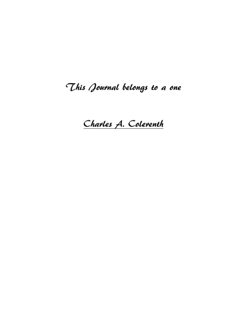 Journal of Charles A. Colrenth