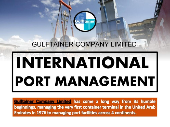 Gulftainer Company Limited: International Port Management