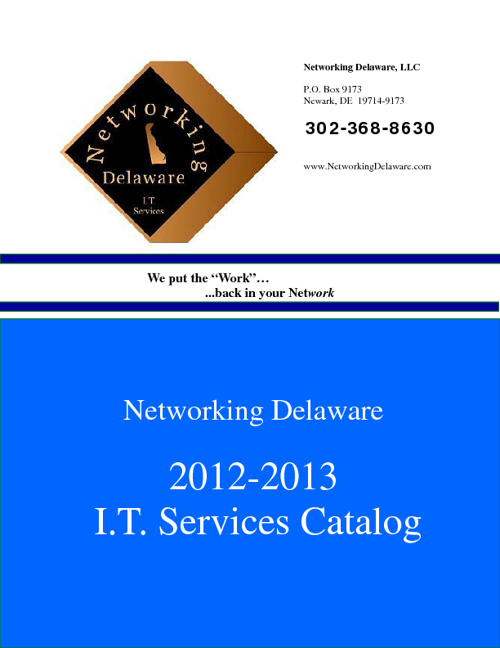 Networking Delaware 2012/2013 Services Catalog