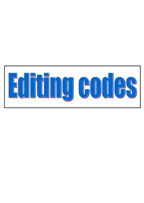 Editing Codes 2