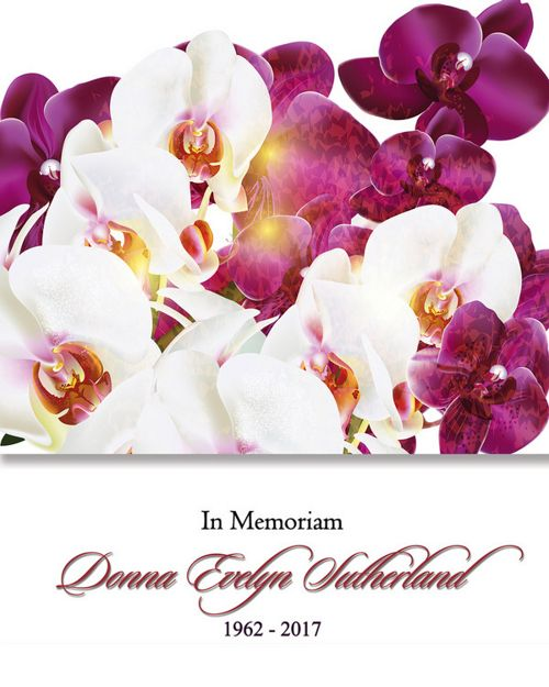 Memorial Card for Donna Evelyn Sutherland