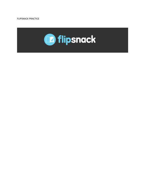 FLIPSNACK PRACTICE