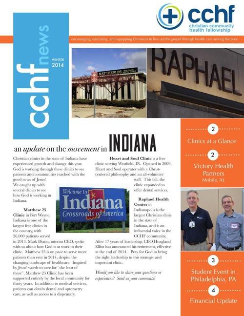 CCHF Winter Newsletter 2014