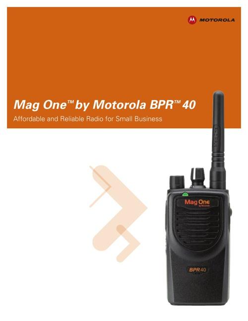 Motorola BPR40 Document Library