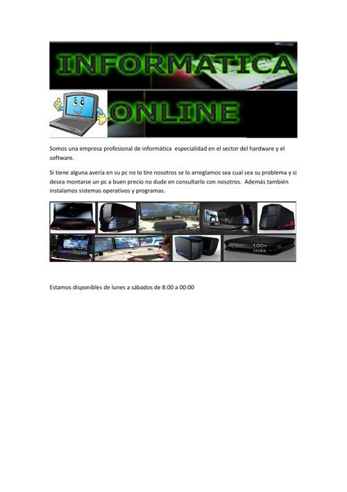 Copy of Informática Online