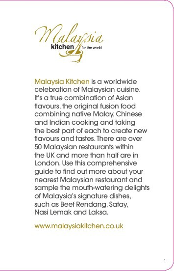 About Malaysian food
